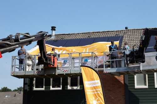 onthulling zonnepanelen Wocozon
